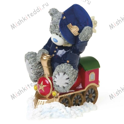Choo Choo Me to You Bear Figurine Choo Choo Me to You Bear Figurine