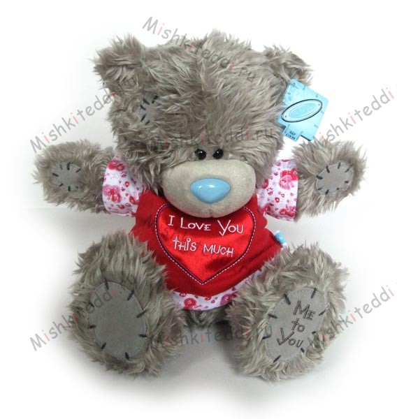 Мишка Тедди Me to you 25 см в красной футболке I Love You This Much  - ME TO YOU TATTY TEDDY 02_G01W0533 152 ME TO YOU TATTY TEDDY