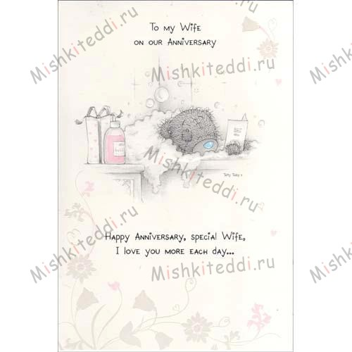 Wife Anniversary Me to You Bear Card Wife Anniversary Me to You Bear Card