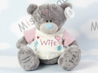 Мишка Тедди Me to You в футболке 31 см - Large Personalised Babysafe Tatty Teddy wearing a Wife T Shirt GYQ0876 26