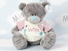 Мишка Тедди Me to You в футболке 31 см - Large Personalised Babysafe Tatty Teddy wearing a Wife T Shirt GYQ0876 26 Large Personalised Babysafe Tatty Teddy wearing a Wife T Shirt
