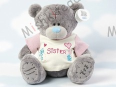 Мишка Тедди Me to You в футболке 31 см - Large Personalised Babysafe Tatty Teddy wearing a Sister T Shirt G01Q0467 14 Large Personalised Babysafe Tatty Teddy wearing a Sister T Shirt