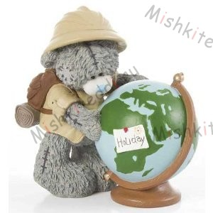 Globe Trotter Me to You Bear Figurine Globe Trotter Me to You Bear Figurine