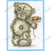 A Flower for You Me to You Bear Small Cross Stitch Kit
