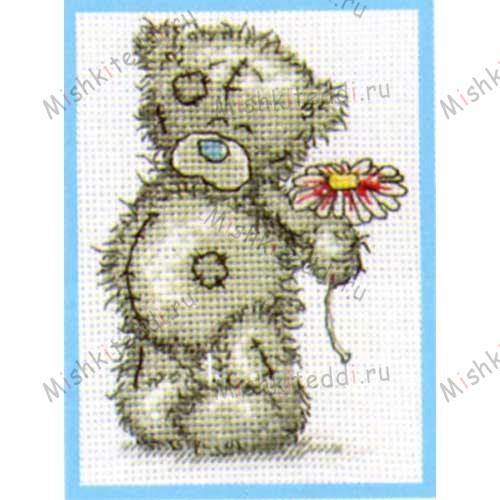 A Flower for You Me to You Bear Small Cross Stitch Kit A Flower for You Me to You Bear Small Cross Stitch Kit
