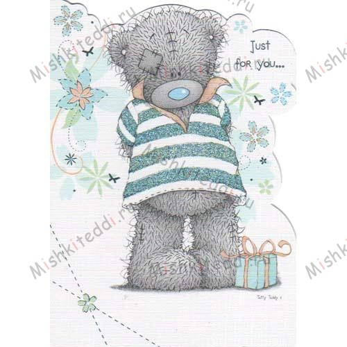 Bear in T-Shirt Me to You Bear Birthday Card Bear in T-Shirt Me to You Bear Birthday Card