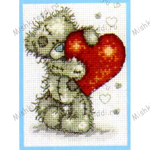Hearts Me to You Bear Small Cross Stitch Kit Hearts Me to You Bear Small Cross Stitch Kit