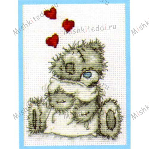 Teddy Hugs Me to You Bear Small Cross Stitch Kit Teddy Hugs Me to You Bear Small Cross Stitch Kit