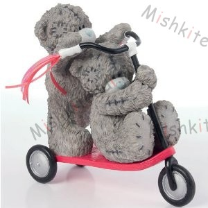 Me To You Bear Figurine 2008 - Scooting Around Me To You Bear Figurine 2008 - Scooting Around