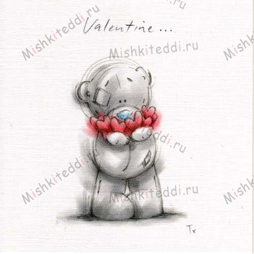 Tatty Holding Hearts Valentines Me to You Bear Card Tatty Holding Hearts Valentines Me to You Bear Card