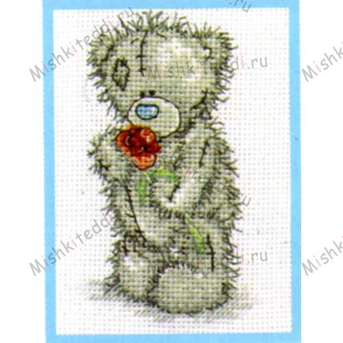 Love You Me to You Bear Small Cross Stitch Kit Love You Me to You Bear Small Cross Stitch Kit