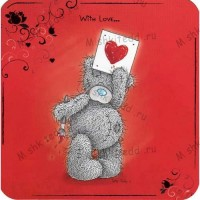 Tatty Holding Picture Valentines Me to You Bear Card