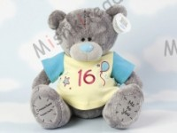 Мишка Тедди Me to You в футболке 31 см - Large Personalised Babysafe Tatty Teddy wearing a 16 T Shirt G01Q0382 144