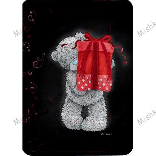 Tatty Holding Present Valentines Me to You Bear Card Tatty Holding Present Valentines Me to You Bear Card