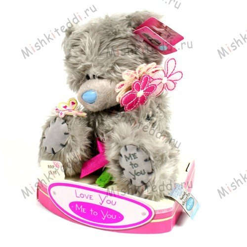 Мишка Тедди Me to You с цветами - Me To You Tatty Teddy With Flowers G01W0696 178 Me To You Tatty Teddy With Flowers