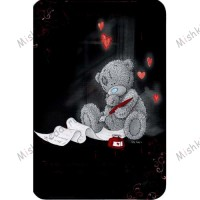 Tatty Looking out Window Valentines Me to You Bear Card