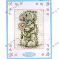 For You Me to You Bear Cross Stitch Kit inc Mount
