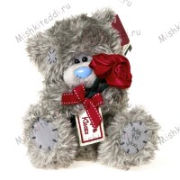 Мишка Тедди Me to You с розой - Me To You Tatty Teddy Holding Bunch Of Roses GO1W1454 156