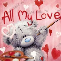 Tatty Painting Valentines Me to You Bear Card
