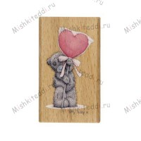 Big Heart Me to You Bear Stamp