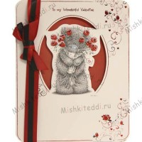 Tatty with Bouquet Valentines Me to You Bear Card