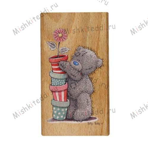 Flower Pots Me to You Bear Stamp Flower Pots Me to You Bear Stamp