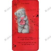 Tatty with Card and Rose Valentines Me to You Bear Card