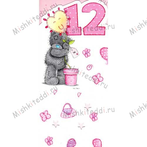 12th Birthday Girl Me to You Bear Card 12th Birthday Girl Me to You Bear Card