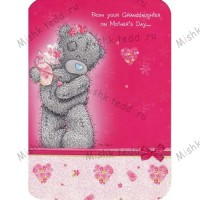 From your Granddaughter Mothers Day Me to Bear Card