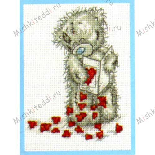 Little Hearts Me to You Bear Small Cross Stitch Kit Little Hearts Me to You Bear Small Cross Stitch Kit