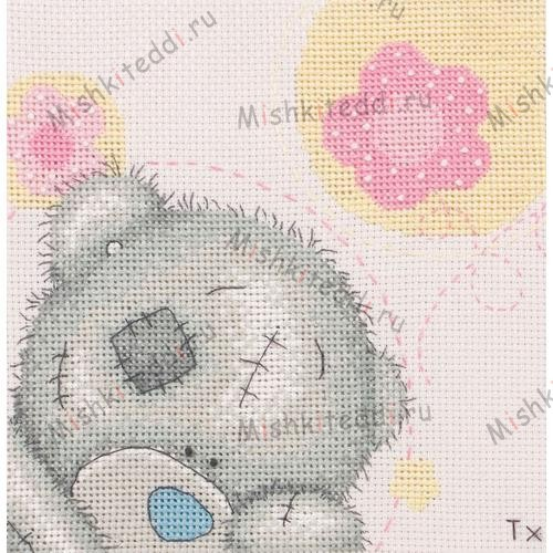 Pretty in Pink Me to You Bear Cross Stitch Kit Pretty in Pink Me to You Bear Cross Stitch Kit