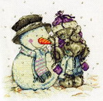 Tatty Teddy and Snowman