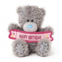 "Мишка MetoYou (Тедди) с баннером ""Happy Birthday"" (M5 HAPPY BIRTHDAY BANNER)"