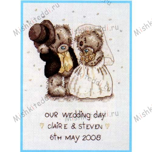 Our Wedding Day Me to You Bear Cross Stitch Kit Our Wedding Day Me to You Bear Cross Stitch Kit