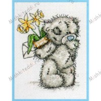 Daffodils Me to You Bear Small Cross Stitch Kit
