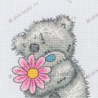 A Little Flower Me to You Bear Cross Stitch Kit