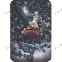 Tatty in Sleigh Me to You Bear Christmas Card