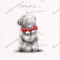Tatty Holding Hearts Valentines Me to You Bear Card