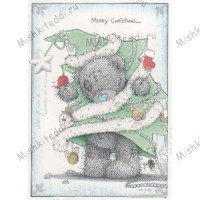 Tatty Dressed as Tree Me to You Bear Christmas Card