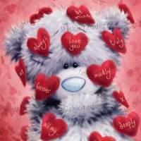 Tatty In Love Notes Valentines Me to You Bear Card