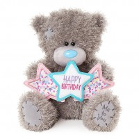Мишка Teddy со звездочками Happy Birthday (M10 HAPPY BIRTHDAY STARS)